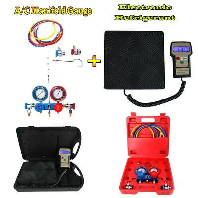 220lbs Digital Refrigerant Charging Weight Scale Ac Manifold Gauge R134a R12