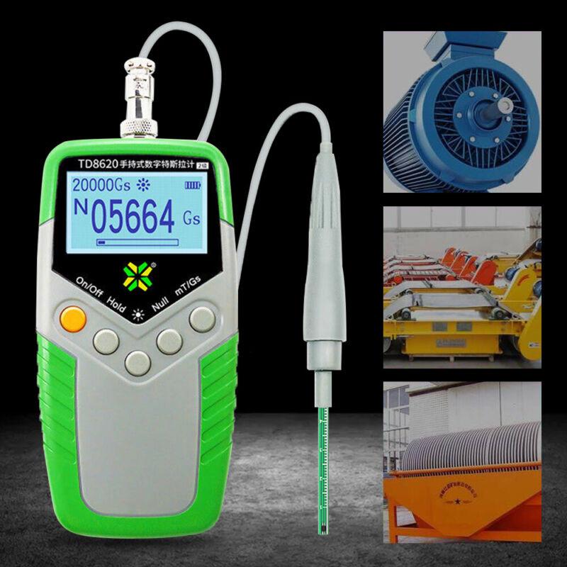 Digital Gauss Meter hand-held Surface Magnetic Field Tester Magnetic Flux Meter