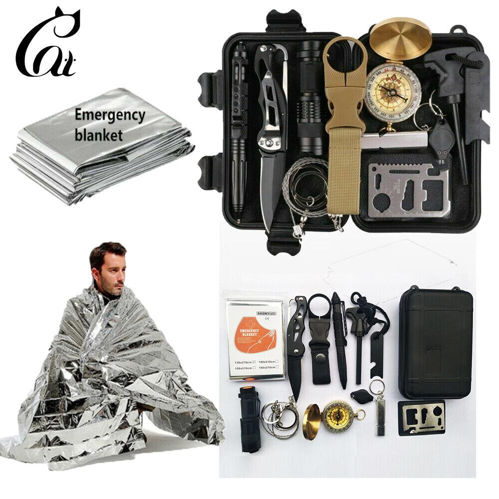 13 in 1 Outdoor Emergency Survival Gear Kit SOS EDC Camping