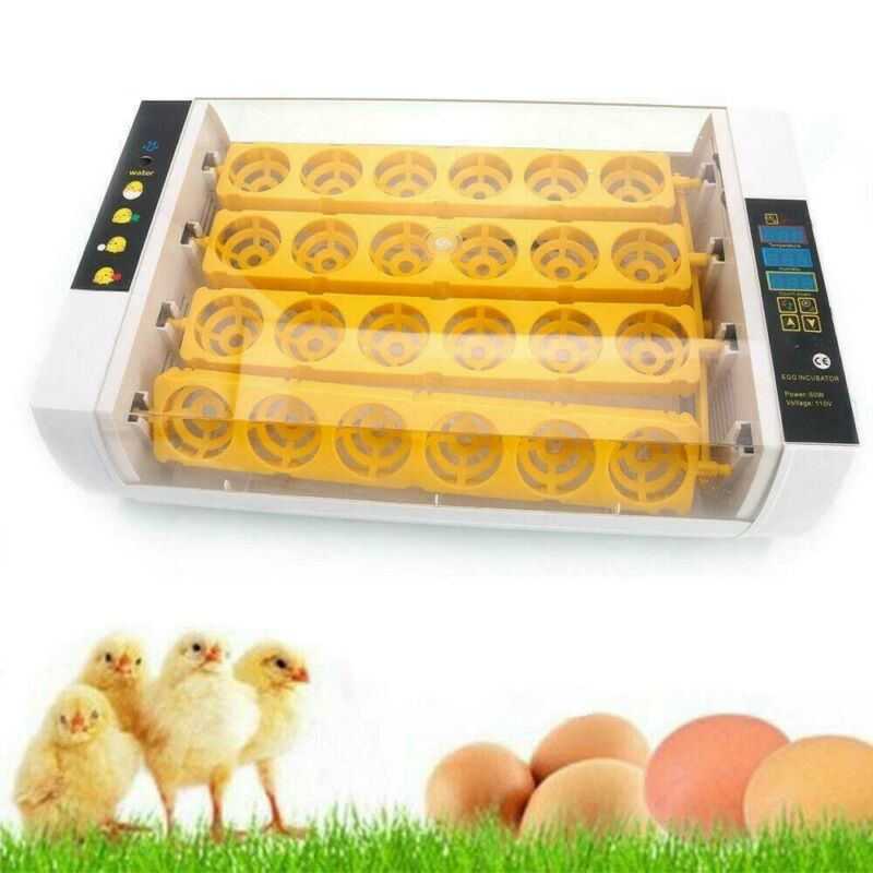 Smart Automatic 24 Digital Chick Bird Egg Incubator Hatcher Temperature Control