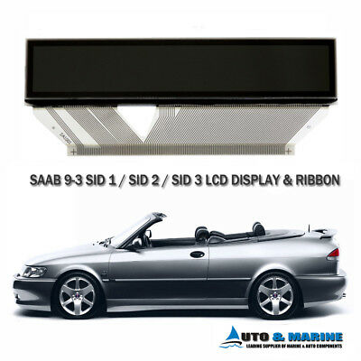 SAAB 9-3 93 LCD DISPLAY SCREEN SID 1 SID 2 SID 3 Saab Information Display  .NEW. for sale  Ludlow