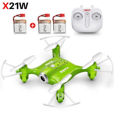 3 Batteries Syma X21W Pocket Mini Drone RC Quadcopter Camera Wifi FPV Xmas Gift