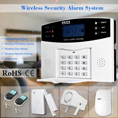 433MHz GSM SMS Wireless Security Alarm System Home Window Door Sensor Detector