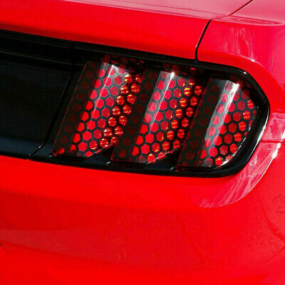 Car Rear Tail Light Honeycomb Sticker Exterior Accessories Tail Light Lamp Cover