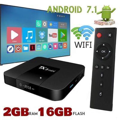 TX3 Mini 2GB+16GB Android 7.1 Quad Core TV Box 17 HD Media Player WIFI UK