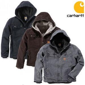 Carhartt-Chaqueta-De-Invierno-Hombre-Chaqueta-Sandstone-Barlett-Forrado