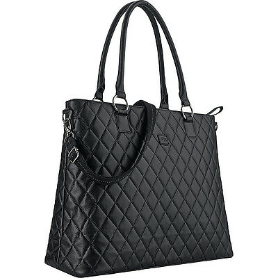 "SOLO Classic 15.6"" Laptop Tote - Black Women's Business Bag NEW"
