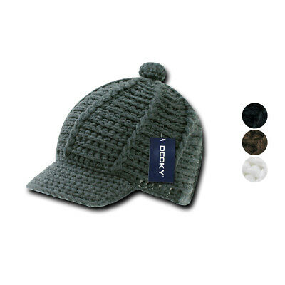Decky Crocheted Beanies Raggae Rasta Kufi Knitted Hats Caps Visor