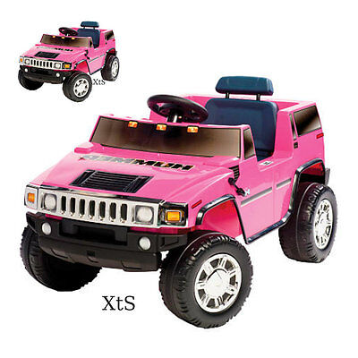 Girls Ride On Pink Hummer Car Electric 6 V Power Motorized SUV Toys Barbie Kids