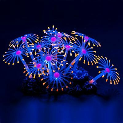 Uniclife Glowing Effect Artificial Coral Plant for Fish Tank, Decorative Aquariu
