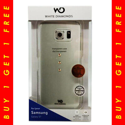 White Diamonds Trinity Crystal Case Rose Gold Samsung Galaxy S7 BUY 1 GET 1 FREE White Crystal Case