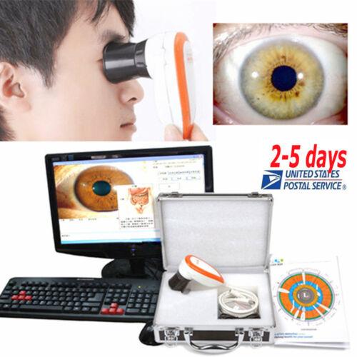Eyes 5.0 MP USB Iriscope Iris Analyzer Iridology camera + pro Iris Software Top