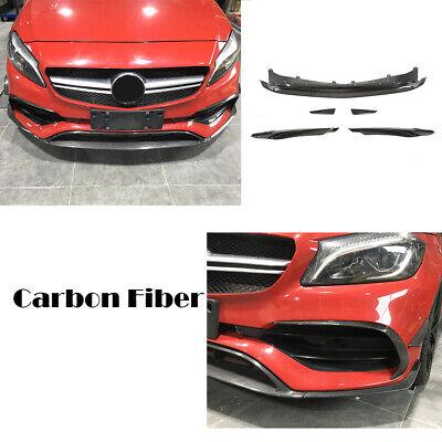 Für Mercedes A Klasse W176 CarbonSplitter Flossen Flap Canard Front Spoilerlippe