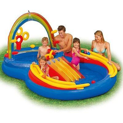 Intex 57453 Rainbow Ring Play Center Pool mit Rutsche und mehr