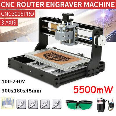 Cnc 3018pro Diy Cnc Lase R Engraving Router Carving Pcb Pvc Milling Machine Y6d4