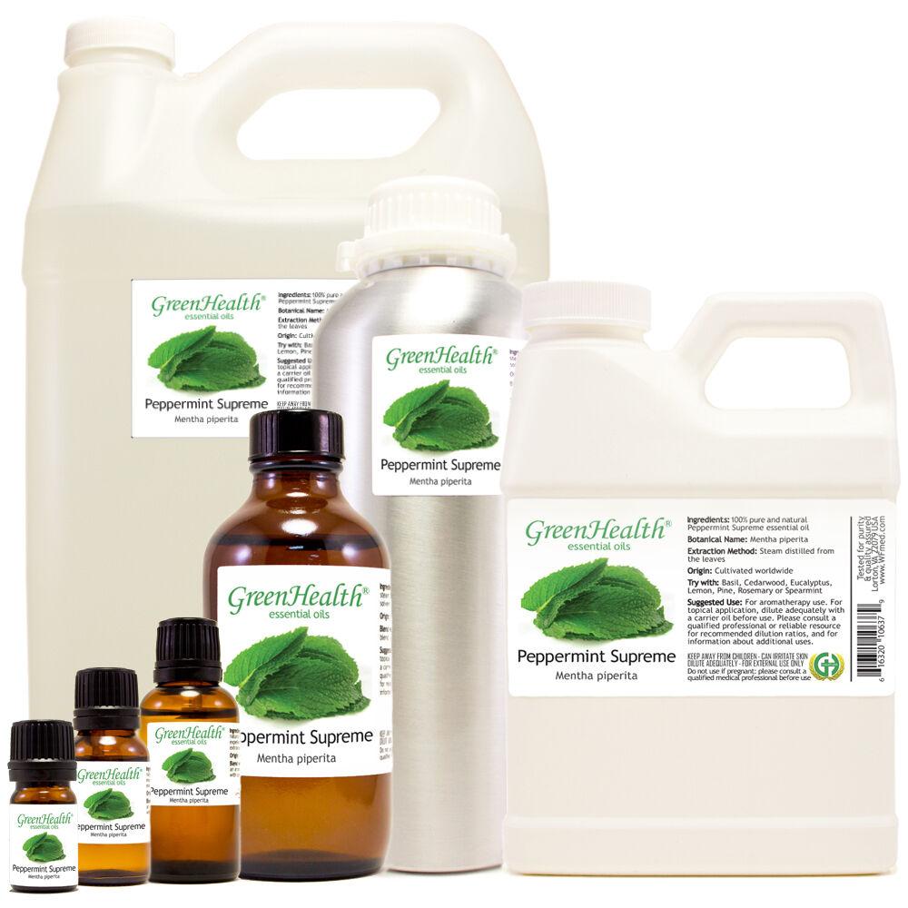 Peppermint Supreme Essential Oil  5ml-1gallon Free Shipping