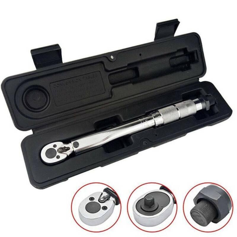 """Drehmomentschlüssel 1/4"""" Zoll 5~25 Nm Knackschlüssel Ratsche Schlüssel Silber"""