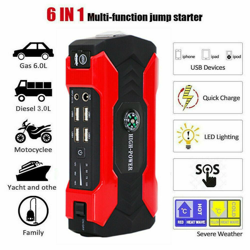 69800mAh Car Jump Starter Booster Jumper Box Power Bank Batt