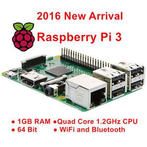 Raspberry Pi 3 Model B 1GB 1GB QUAD Core Broadcom BCM2837 64bit ARMv8 Processeur