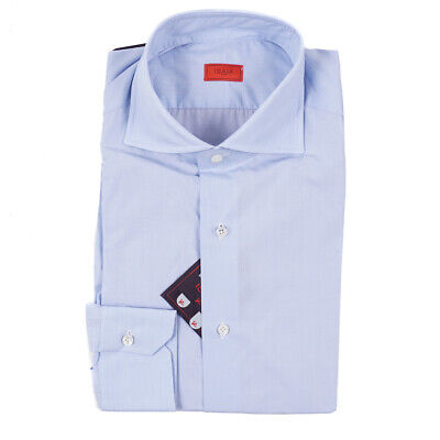NWT $515 ISAIA Tailored-Fit 'Leuca' Sky Blue Lightweight Dress Shirt 16
