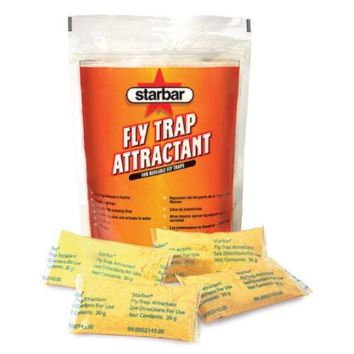 FLY TRAP ATTRACTANT For Reusable Fly Traps 8 pack of 30g water soluble pouches