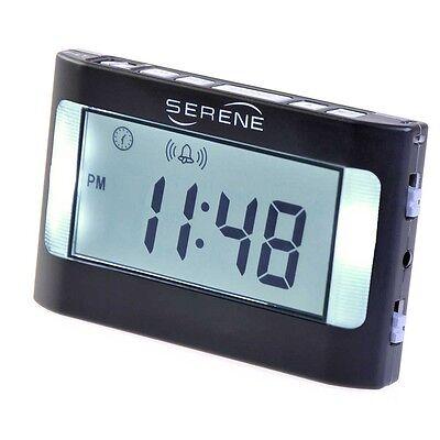 Serene Innovations VA3 Vibrating Travel Alarm Clock - Hearing Loss- Low Vision