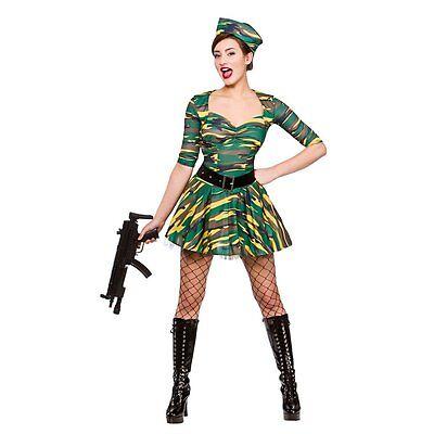 Corporal Cutie Adult Ladies Fancy Dress Costume Military Uniform GI Jane UK - Gi Jane Kostüm