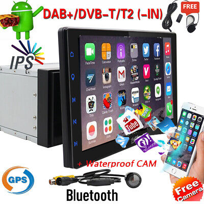 """10.1""""2Din Car Android 9.0 Radio Bluetooth GPS Wifi Stereo Video Player+HD camera"""