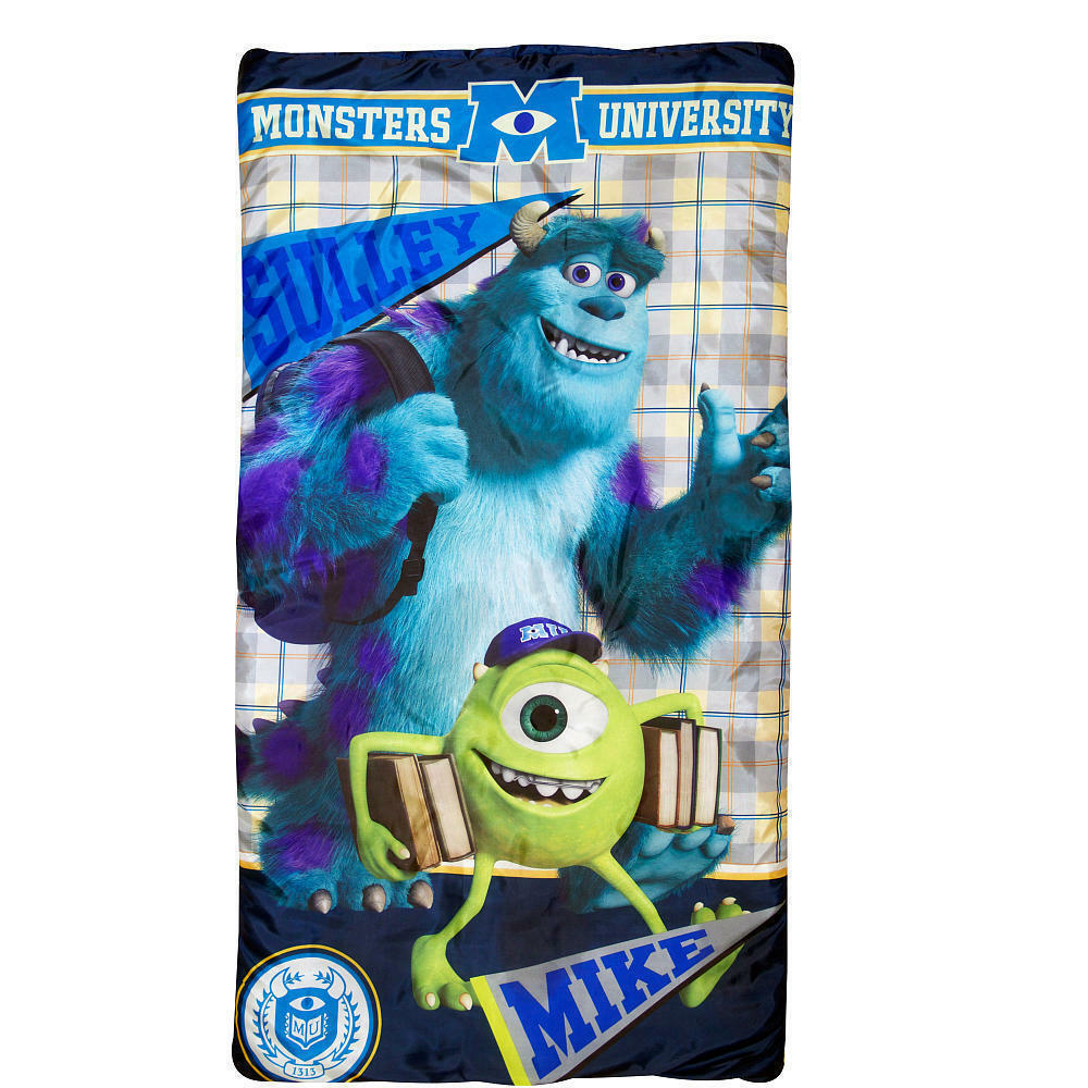 Monsters University KIDS BOYS GIRLS Slumber Bag Sleeping Bag + Backpack NEW