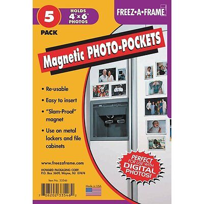 5 Pack Flexible Magnetic Photo Pockets For 4x6 (Same Shipping Any Qty) - Flexible Magnetic Photo Pockets