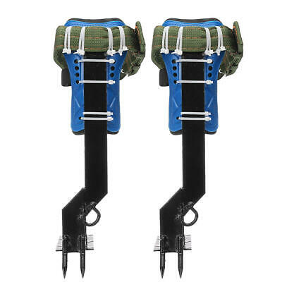 Tree Climbing Spike Set Safety Belt Wgear Adjustable Lanyard Stainless Steel Cl