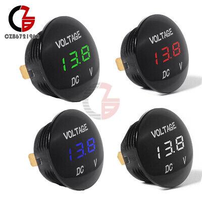 Led Panel Dc 12v-24v Digital Voltage Volt Meter Voltmeter Greenredwhiteblue