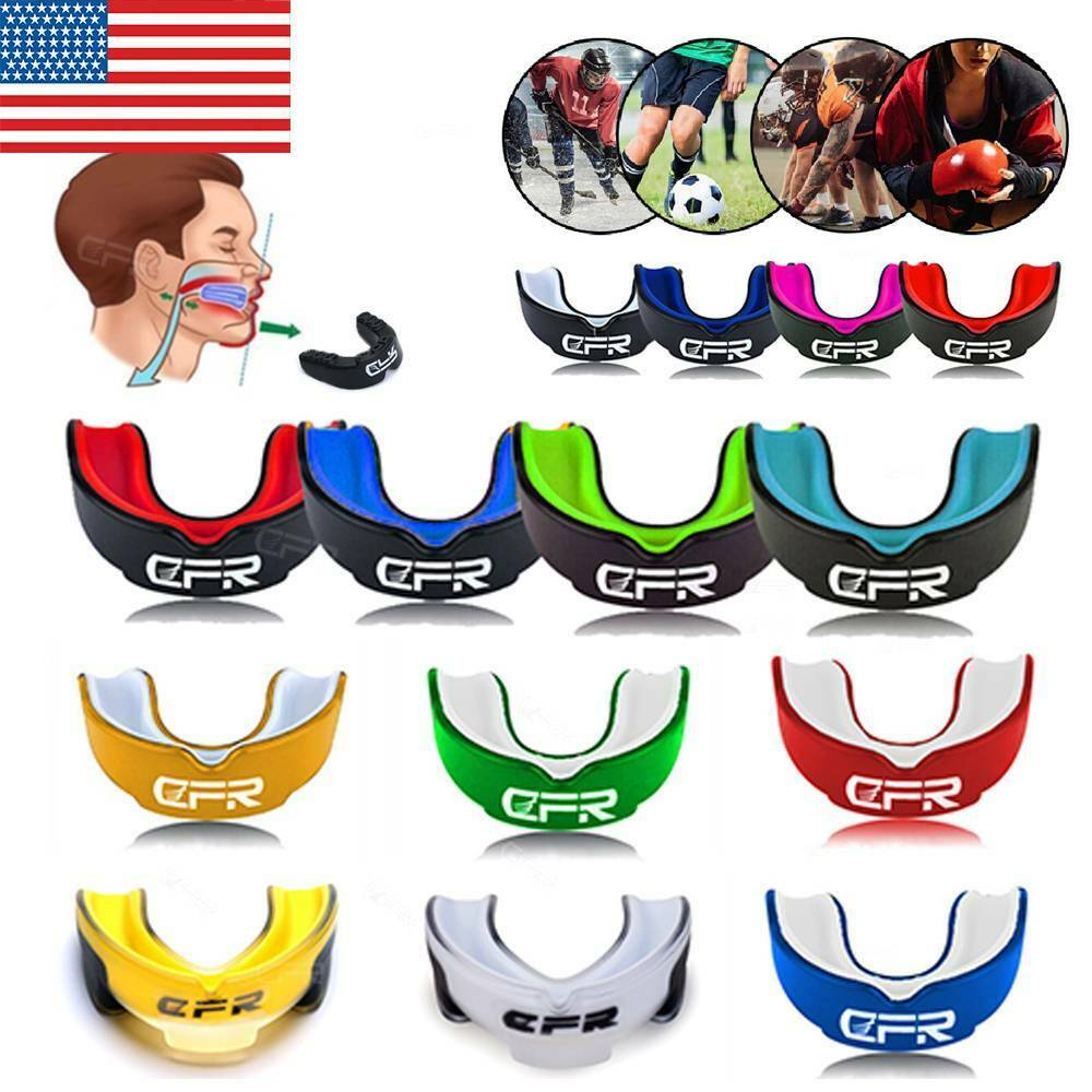 Mouth Guard Teeth Protect Gum Shield Basketball Hockey MMA B