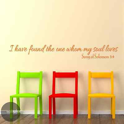 Song Of Solomon 3 (Song Of Solomon 3:4 I Have Found The One Whom My Soul Loves Vinyl Wall)