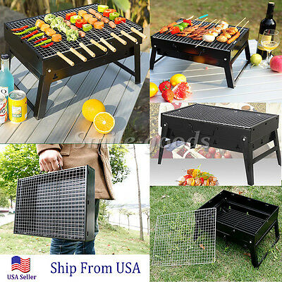Portable Charcoal BBQ Grill Backyard Barbecue Outdoor Camping Burner Assemble