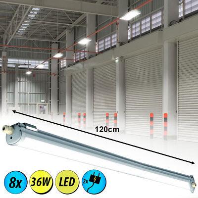 8er Set SMD LED 36 Watt Decken Wannen Energie Spar Leuchte Industrie Hallen neu