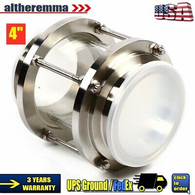 4 Beverage Industry Inline Sanitary Flow Sight Glass Sus304 Tri Clamp Type