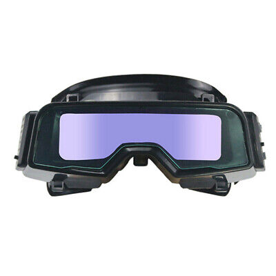 Solar Powered Auto Darkening Welding Goggles Helmet Eyes Goggle Welder Glasses