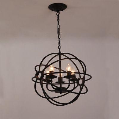 Light Orbs (Metal Orb Chandelier Globe Light Sphere Hanging Fixture Ceiling Dining Round)