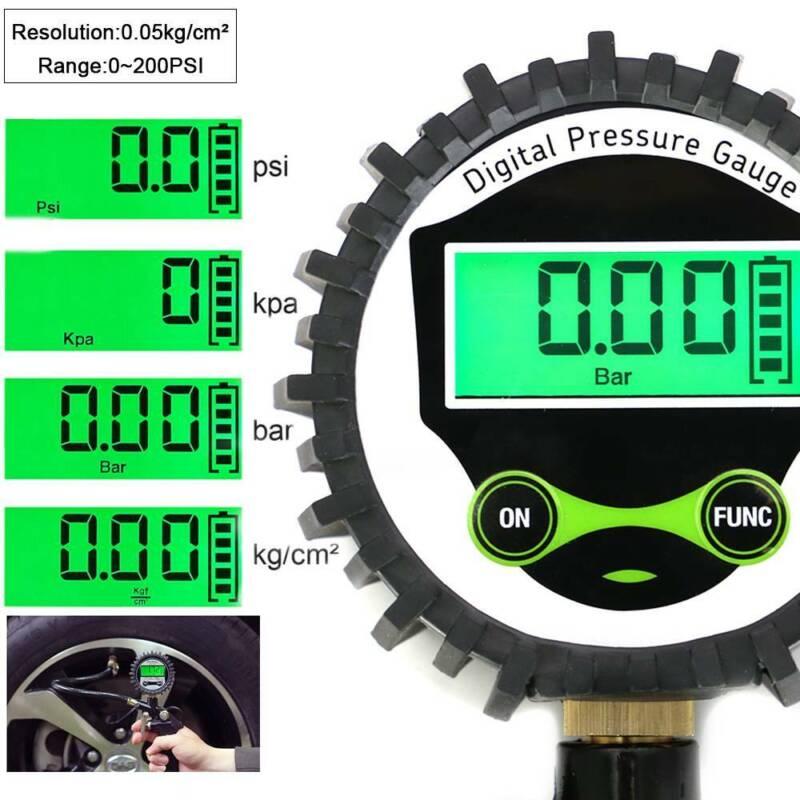 Digitaler Luftdruckprüfer Luftdruckmesser Reifenfüller Reifenfüllpistole digital