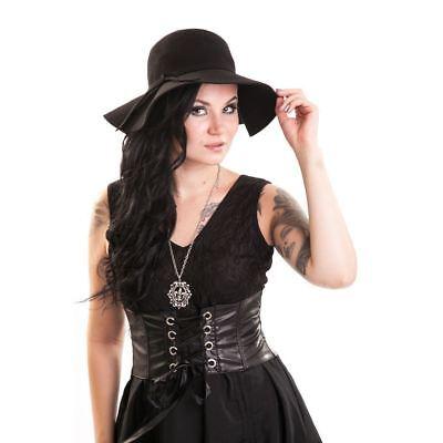 Emo Hats (Poizen Industries Vintage Hat Ladies Black Goth Emo Punk)