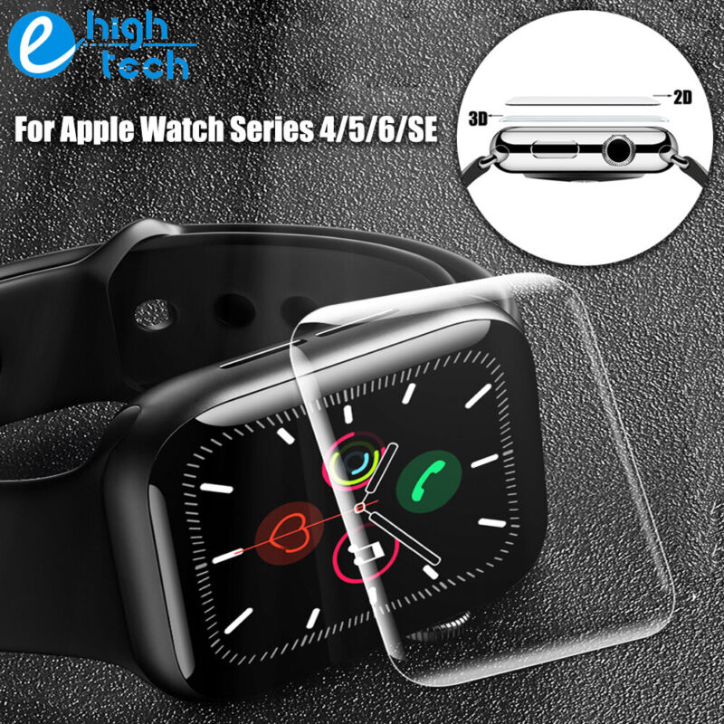 3D Tempered Glass Screen Protector Cover for Apple Watch iWatch 6 5 4 SE 40/44mm