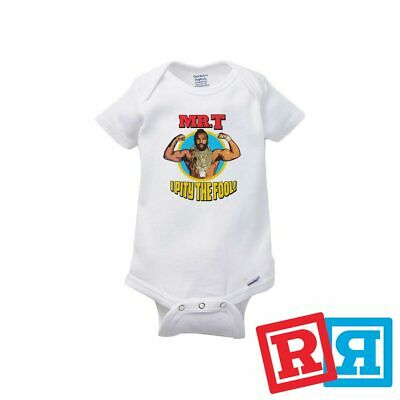 Mr. T Baby Onesie A Team Rocky Balboa Boxing Bodysuit Gerber Organic -