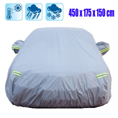 Universal Heavy Duty Full Car Cover UV Protection Outdoor Breathable Medium Size