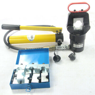 20 Ton Hydraulic Wire Terminal Crimper Crimping Tool Pliers Cutter Set W Dies