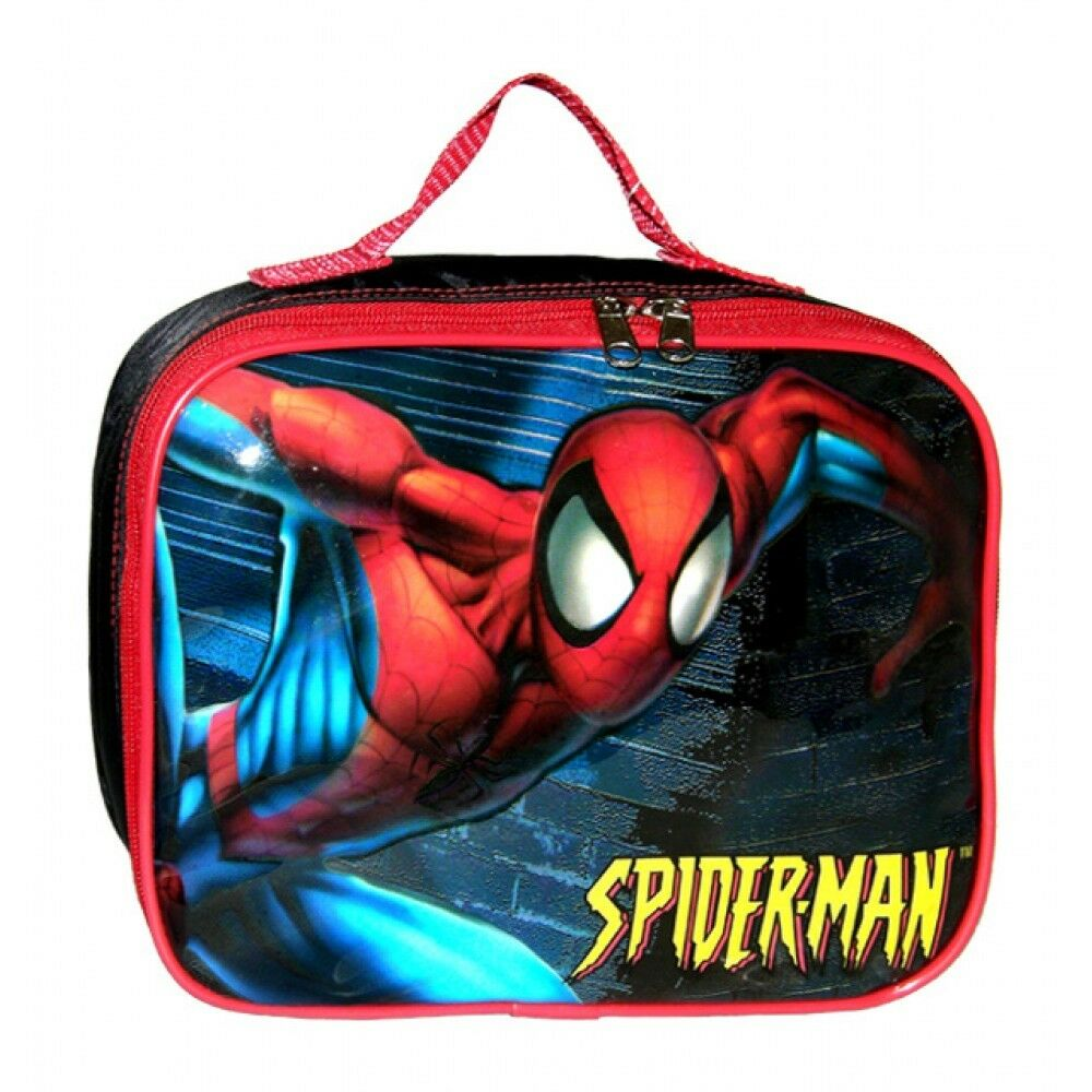 Lunch Bag - Marvel - Spiderman - In Night w/Water Bottle New