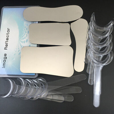 4pcs Intraoral Dental Photography Mirror 10pcs Retractor Cheek Lip Mouth Opener