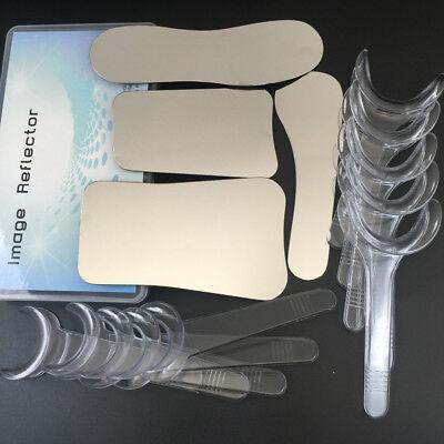 4pcs Intraoral Dental Photography Mirror 10pcs Retractor Cheek Lip Mouth Opener