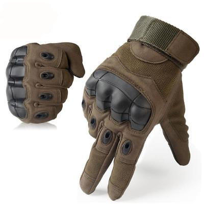 Touch Screen, Tactical Gloves w/ Anti-Skid Hard Knuckles