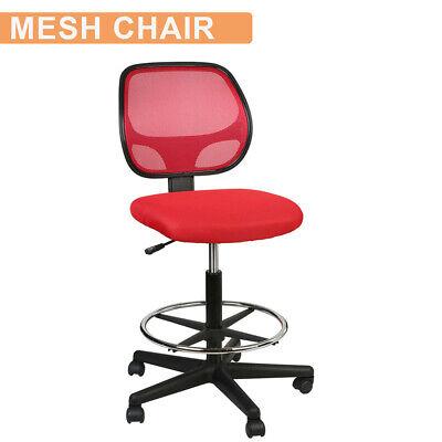 Office Drafting Chair Mesh Task Ergonomic Computer Desk Chair Adjustable Swivel